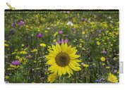 Sunflower And Wildflowers Carry-all Pouch