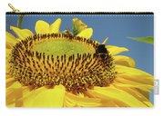 Sunflower Art Prints Honey Bee Sun Flower Floral Garden Carry-all Pouch