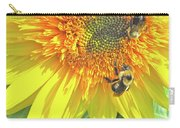Sunflower Bees Carry-all Pouch