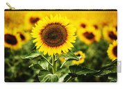 Sunflower Crops On A Farm In South Dakota Carry-all Pouch