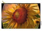 Sunflower Dawn In Oval Carry-all Pouch