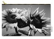 Sunflower Duo Bw Carry-all Pouch