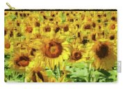Sunflower Edges Carry-all Pouch