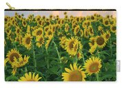 Sunflower Faces At Sunset Carry-all Pouch