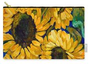 Sunflower Faces Carry-all Pouch