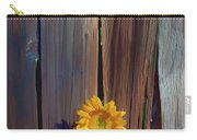 Sunflower In Barn Wood Carry-all Pouch