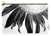 Sunflower In Corner Bw Threshold Carry-all Pouch