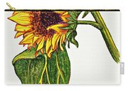 Sunflower In Gouache Carry-all Pouch