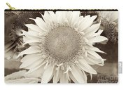 Sunflower In Soft Sepia Carry-all Pouch