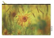 Sunflower In The Wind Painting Carry-all Pouch