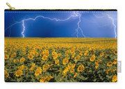 Sunflower Lightning Field  Carry-all Pouch