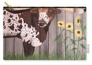 Sunflower Longhorn Carry-all Pouch