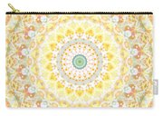 Sunflower Mandala- Abstract Art By Linda Woods Carry-all Pouch by Linda Woods