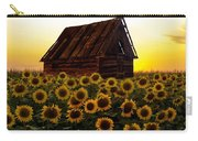 Sunflower Morning With Barn Carry-all Pouch