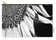 Sunflower Petals In Black And White Carry-all Pouch