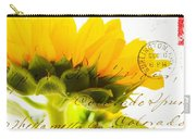 Sunflower Postcard Carry-all Pouch