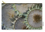 Sunflower Seed Heads Dried To Perfection Carry-all Pouch