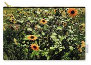 Sunflower Stalks Carry-all Pouch