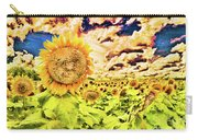 Sunflower Storm Carry-all Pouch