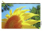 Sunflower Sunlit Art Print Canvas Sun Flowers Baslee Troutman Carry-all Pouch