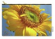 Sunflower Sunlit Sun Flowers 6 Blue Sky Giclee Art Prints Baslee Troutman Carry-all Pouch