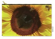 Sunflower With Bees Carry-all Pouch