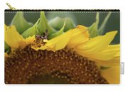 Sunflower With Grasshopper Carry-all Pouch