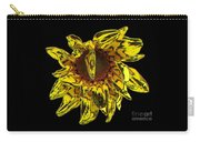 Sunflower With Stone Effect Carry-all Pouch