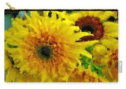 Sunflowers - Light And Dark Carry-all Pouch
