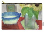 Sunflowers And Blue Bowls Carry-all Pouch