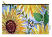 Sunflowers And Butterflies Carry-all Pouch