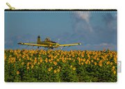 Sunflowers And Crop Duster Carry-all Pouch