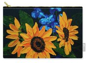 Sunflowers And Delphinium Carry-all Pouch