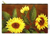 Sunflowers And Dewdrops Carry-all Pouch