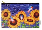 Sunflowers And Faeries Carry-all Pouch