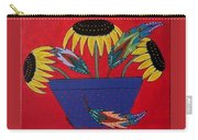 Sunflowers And Feathers Carry-all Pouch