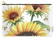 Sunflowers And Honey Bees Carry-all Pouch