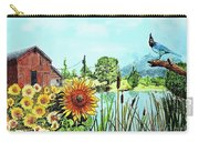 Sunflowers And Jaybird Carry-all Pouch