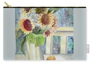 Sunflowers And Peaches Carry-all Pouch