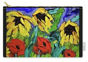 Sunflowers And Poppies - Little Treasures Series Carry-all Pouch