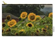 Sunflowers And Red Barn 2 Carry-all Pouch
