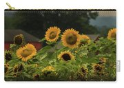 Sunflowers And Red Barn 3 Carry-all Pouch
