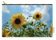 Sunflowers And The Bee Carry-all Pouch