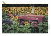 Sunflowers And Tractor Carry-all Pouch