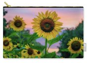 Sunflowers At Sunset Carry-all Pouch