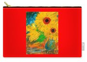 Sunflowers By The Lake Carry-all Pouch
