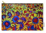 Sunflowers Field At Sunrise Carry-all Pouch
