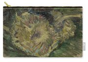 Sunflowers Gone To Seed Paris, August - September 1887 Vincent Van Gogh 1853  1890 Carry-all Pouch