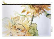 Sunflowers II Uncropped Carry-all Pouch by Monique Faella