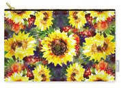 Sunflowers Impressionism Pattern Carry-all Pouch